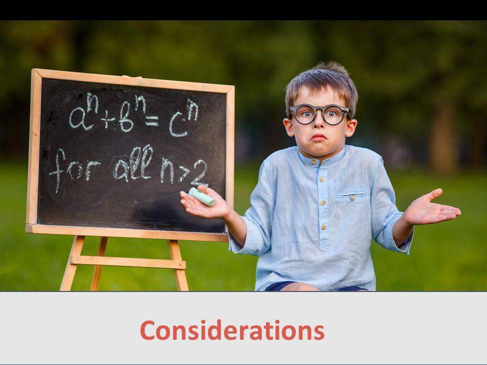 Considerations Landscape Considerations