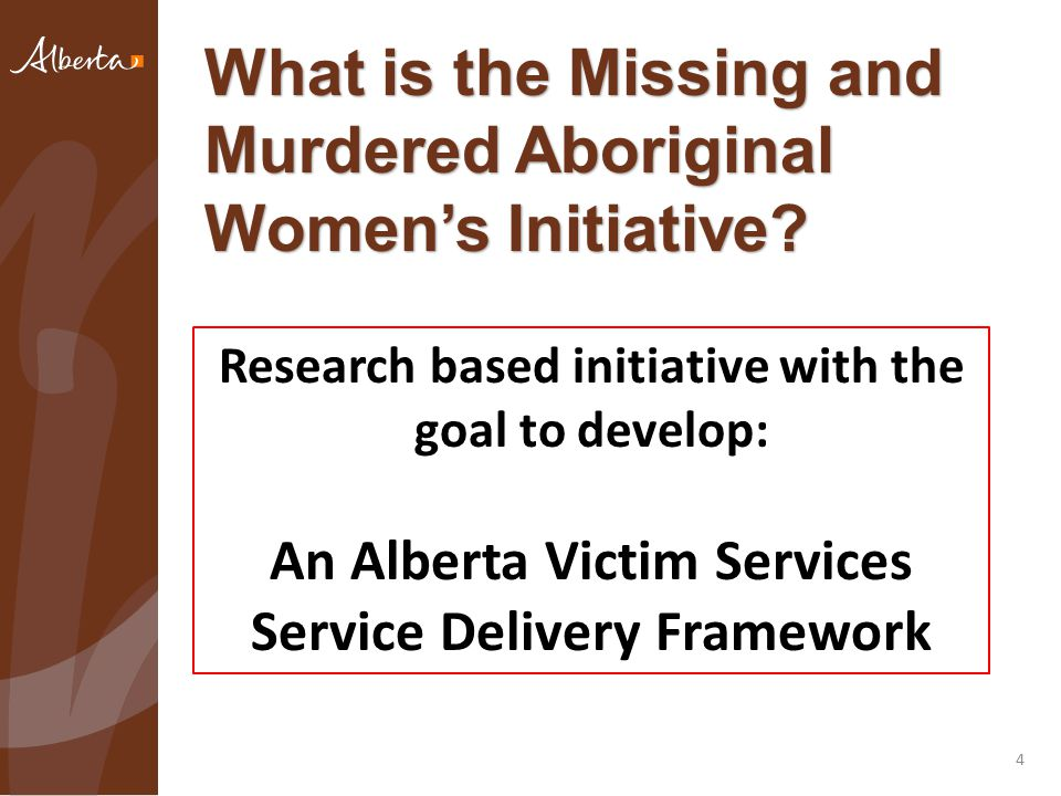 What is the Missing and Murdered Aboriginal Women's Initiative.