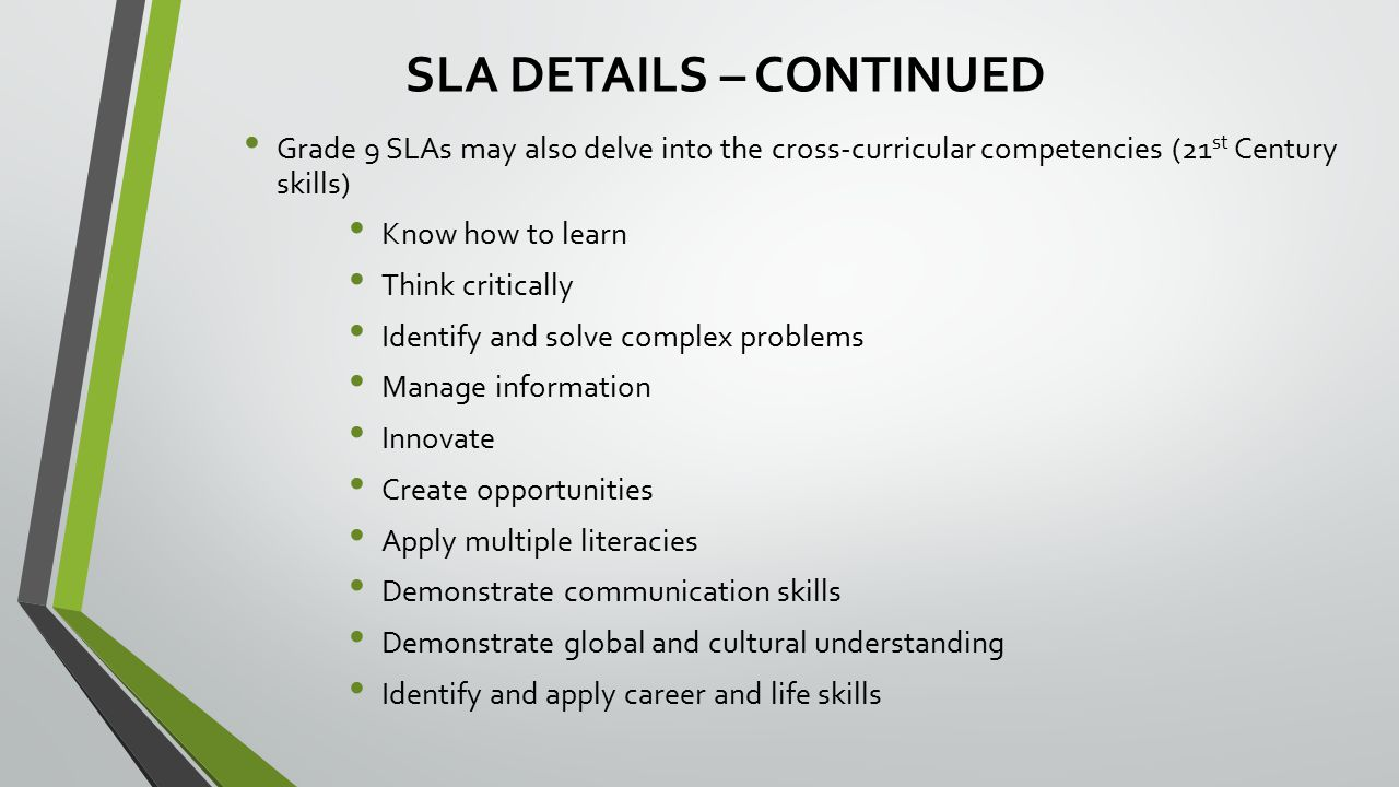 SLAs – CHOICE YEAR For June 2014 and September 2014, school authorities have a choice, school-by-school, whether to administer the Grade 3 PATs in June, the Grade 3 SLAs in September, or both.
