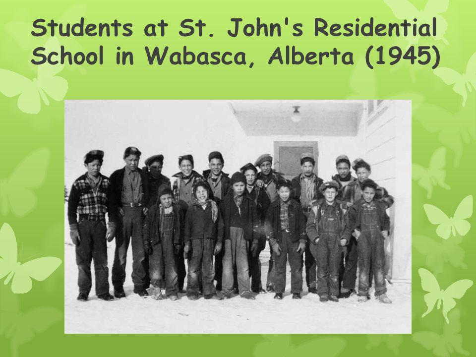 Students at St. John s Residential School in Wabasca, Alberta (1945)