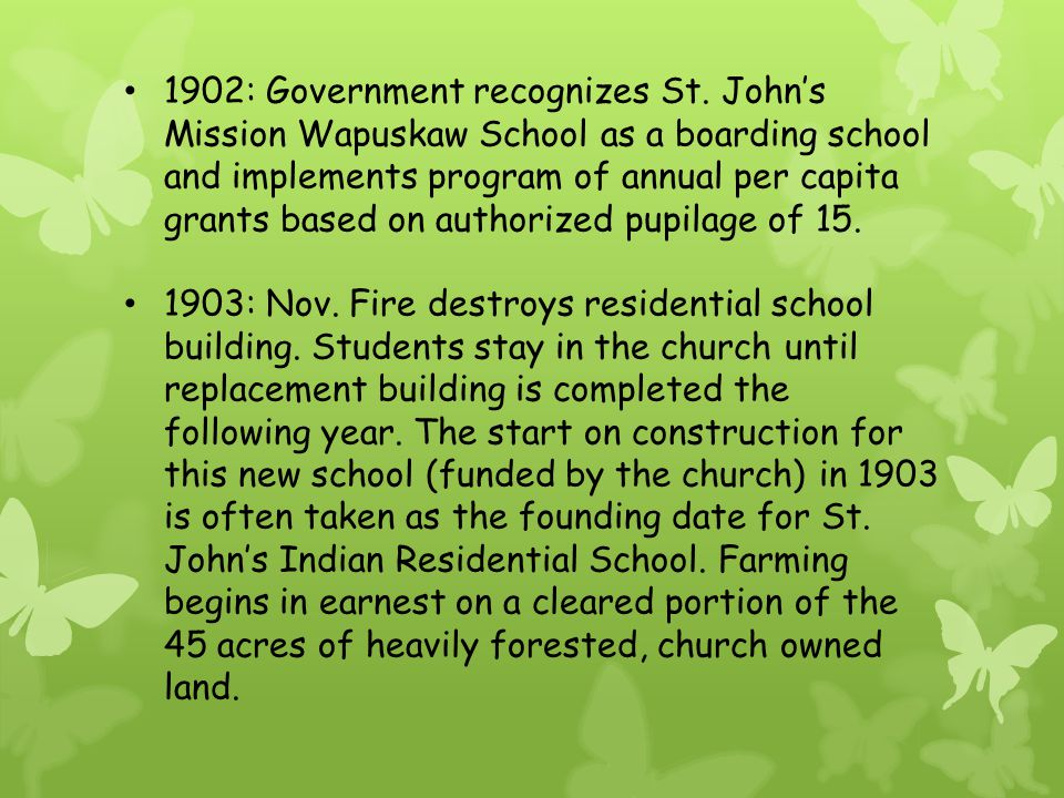 1902: Government recognizes St.