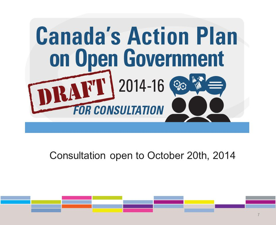 Consultation open to October 20th, 2014 7