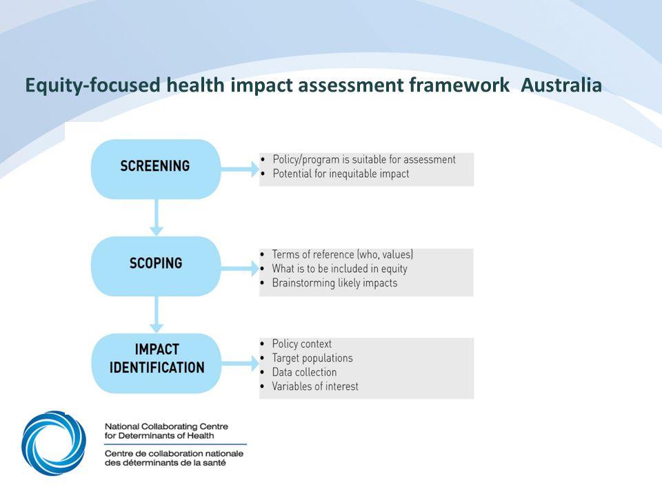 Equity-focused health impact assessment framework Australia