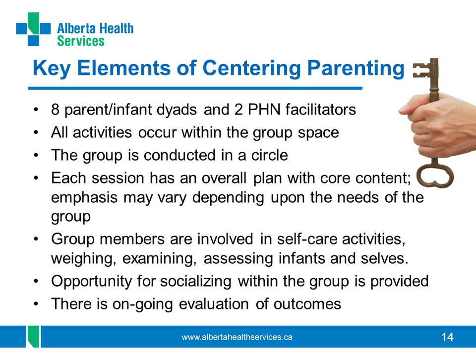14 8 parent/infant dyads and 2 PHN facilitators All activities occur within the group space The group is conducted in a circle Each session has an ove