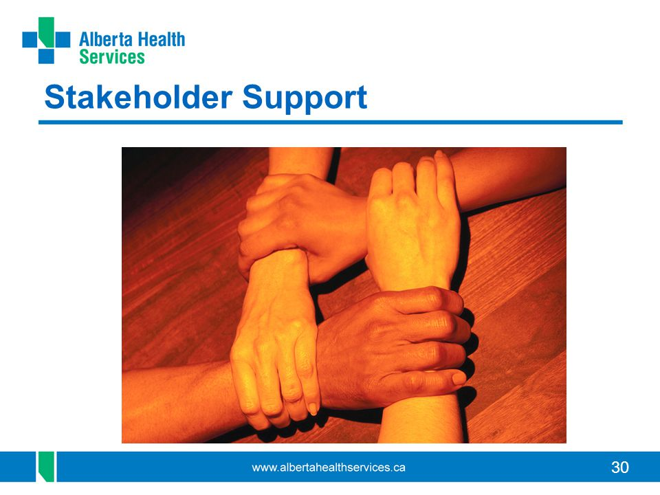 30 Stakeholder Support