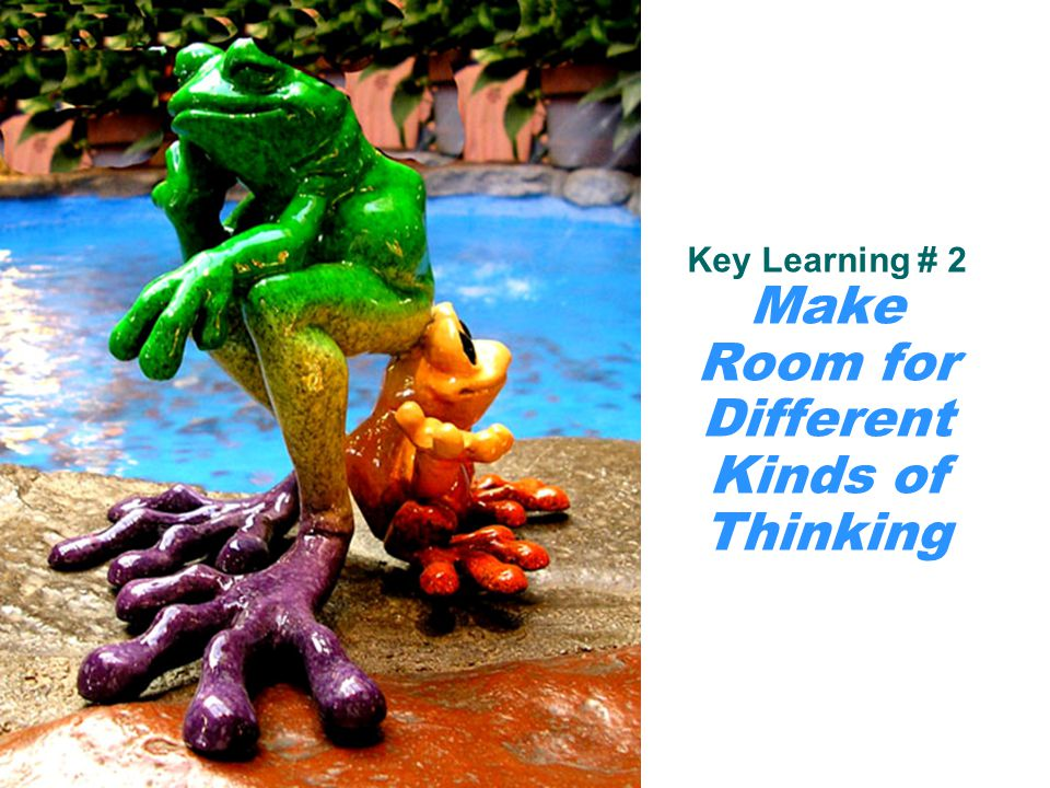 Key Learning # 2 Make Room for Different Kinds of Thinking