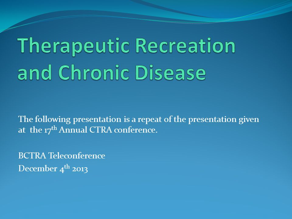 The following presentation is a repeat of the presentation given at the 17 th Annual CTRA conference.