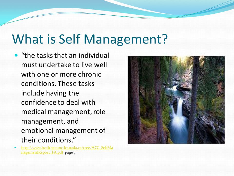 What is Self Management.