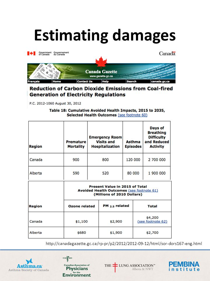 Estimating damages http://canadagazette.gc.ca/rp-pr/p2/2012/2012-09-12/html/sor-dors167-eng.html