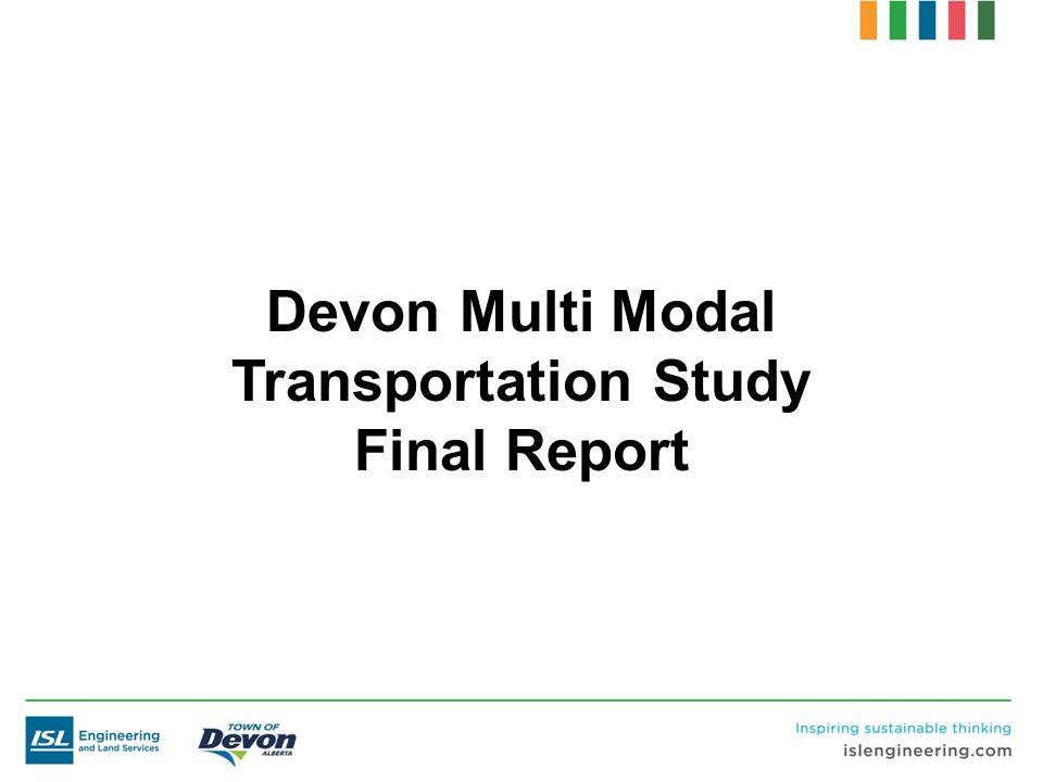 Devon Multi Modal Transportation Study Final Report