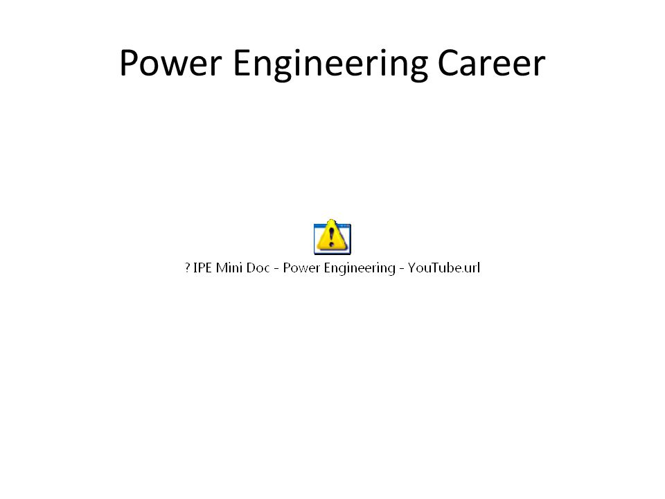 Power Engineering Career
