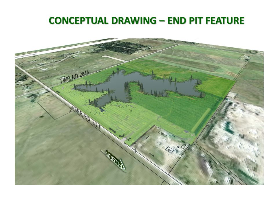 CONCEPTUAL DRAWING – END PIT FEATURE