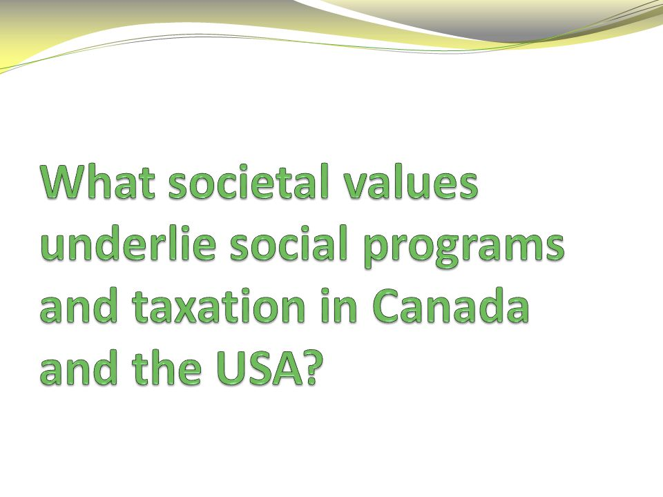 What are social programs.Services provided by the government and paid for by taxes.