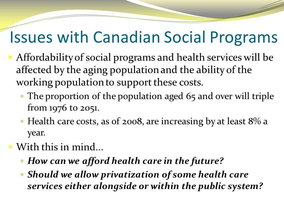 Social Programs in the U.S.A.