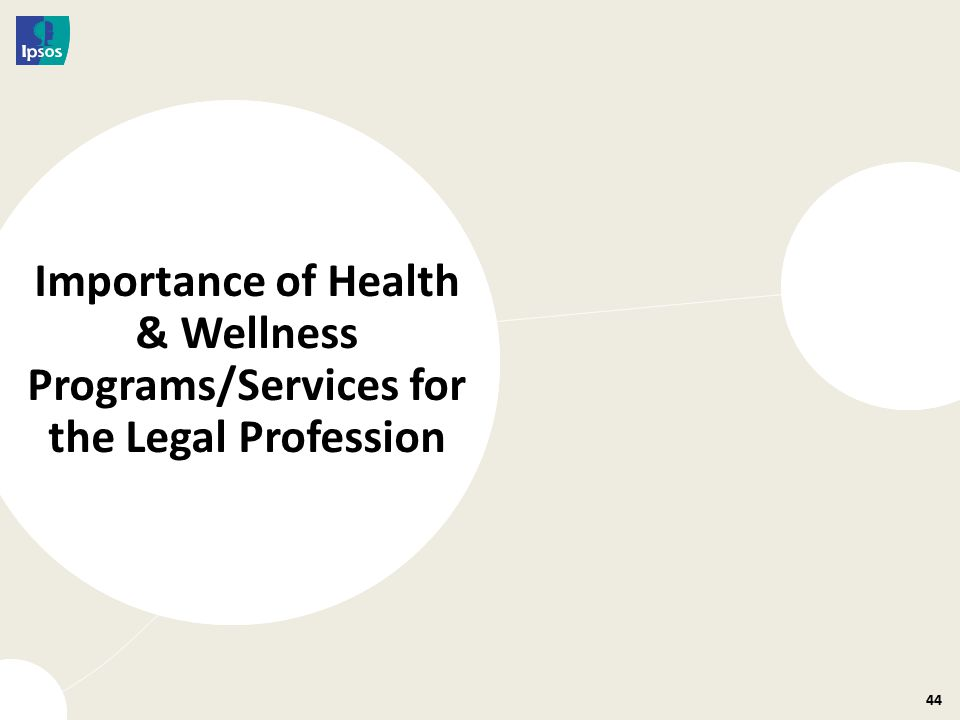 44 Importance of Health & Wellness Programs/Services for the Legal Profession