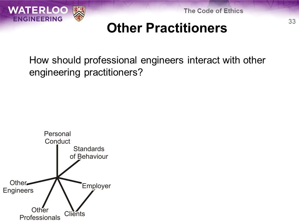 Other Practitioners How should professional engineers interact with other engineering practitioners.