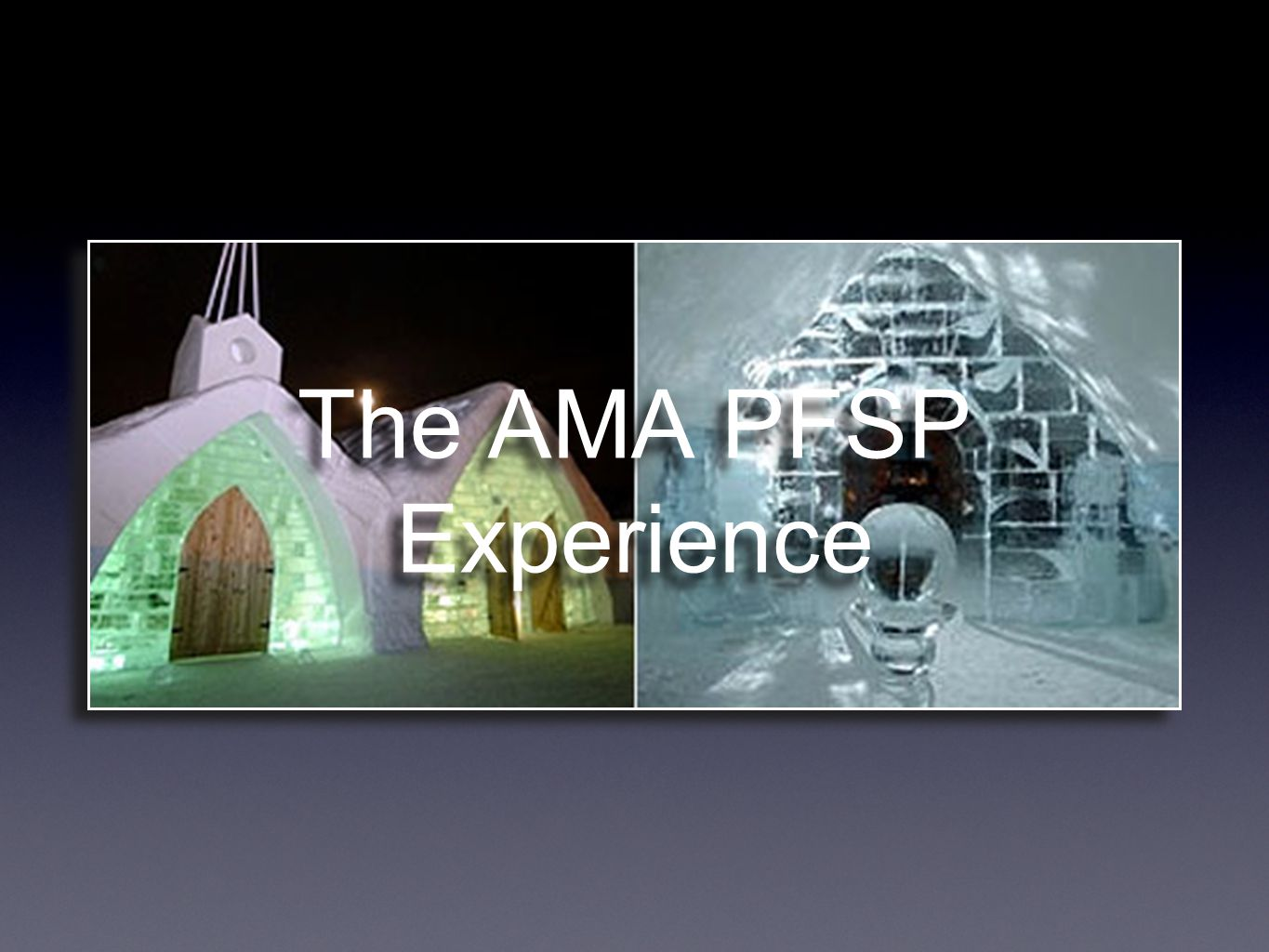 The AMA PFSP Experience