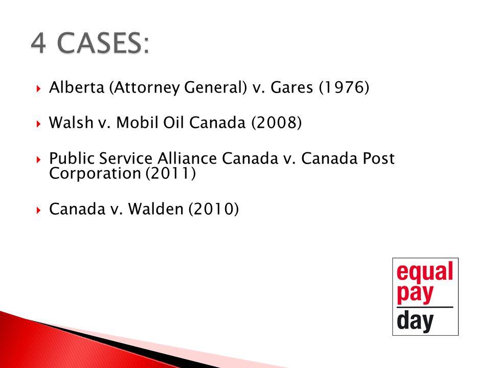  Alberta (Attorney General) v. Gares (1976)  Walsh v.