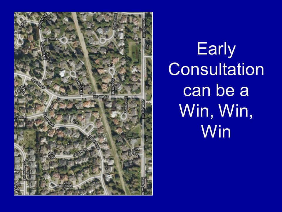 Early Consultation can be a Win, Win, Win