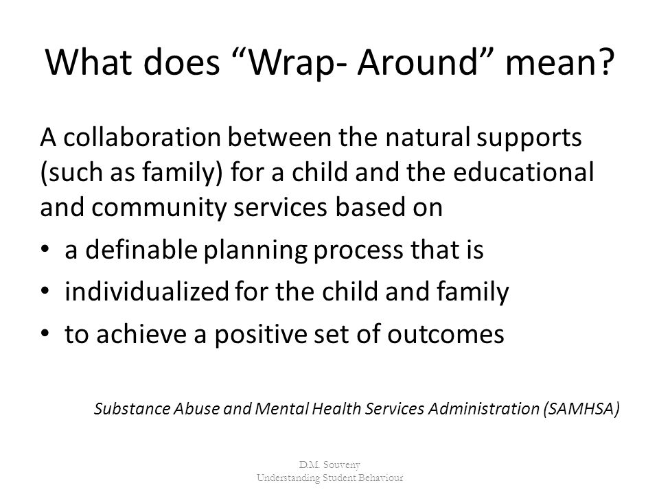 What does Wrap- Around mean.
