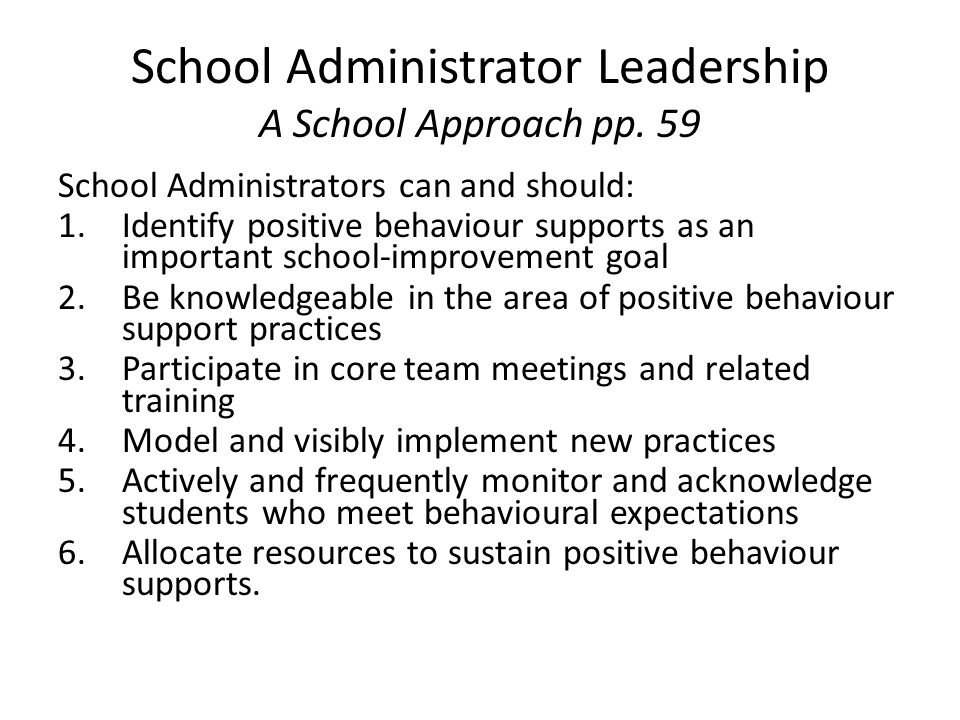 School Administrator Leadership A School Approach pp.