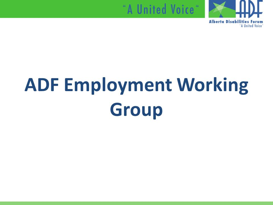 ADF Employment Working Group