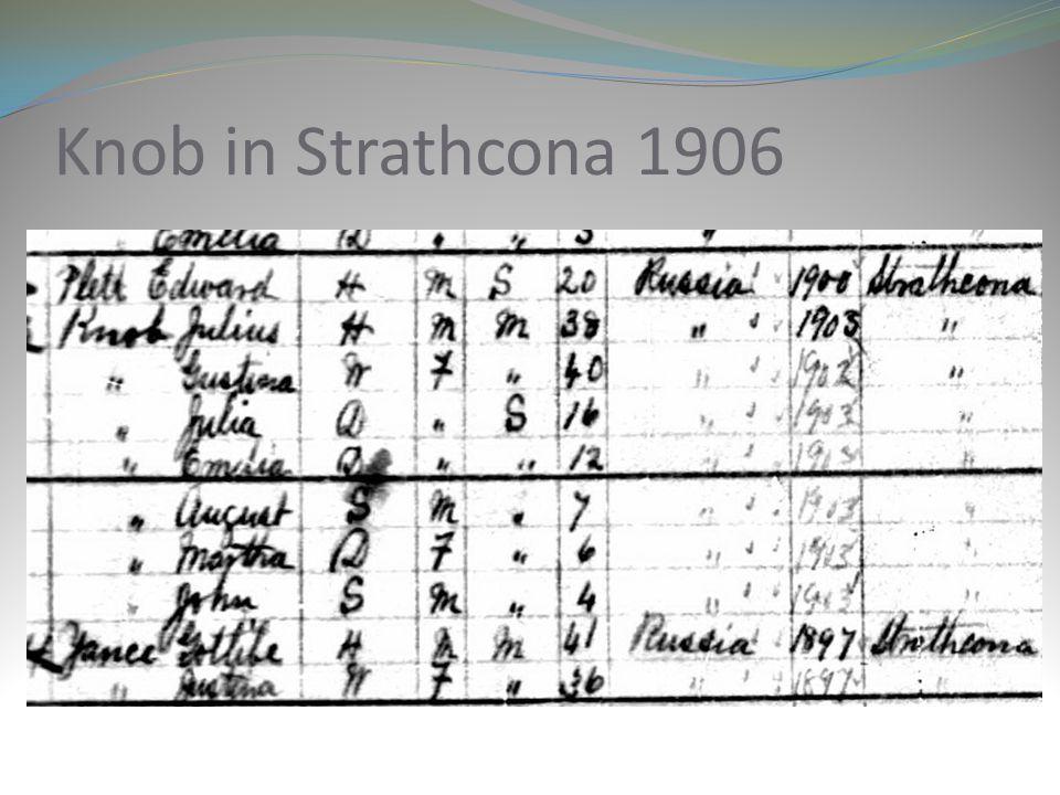 Knob in Strathcona 1906