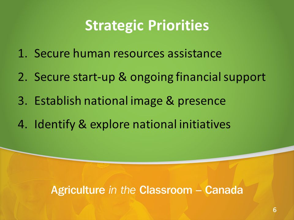 Partnership Opportunities AITC Canada is currently seeking partners that also strive to enhance the knowledge, understanding, and appreciation of agriculture in everyday life by developing: Agriculture Awareness through Education