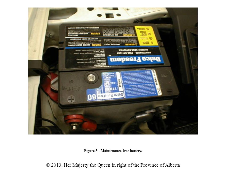 © 2013, Her Majesty the Queen in right of the Province of Alberta Figure 29 - Exploded battery due to improper boosting procedure.