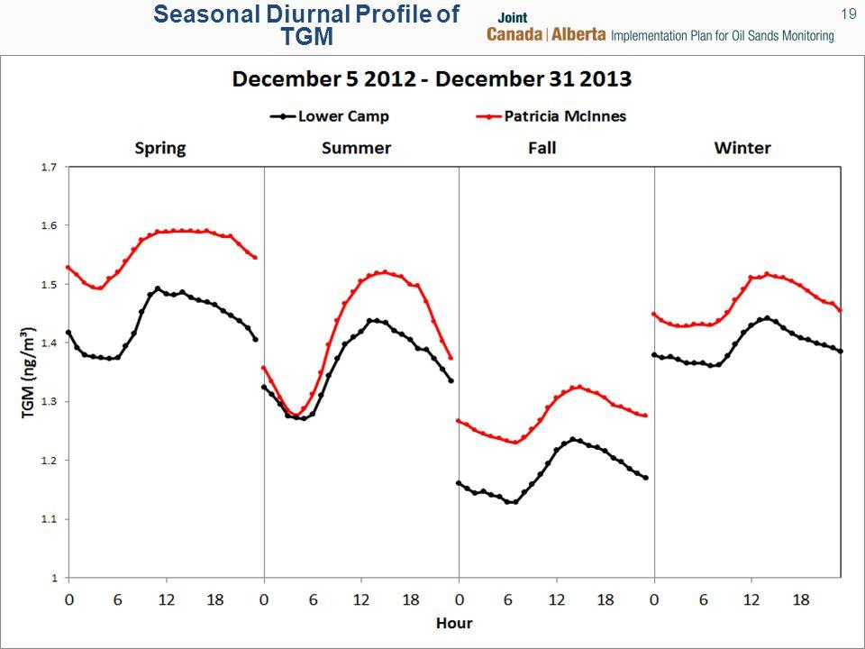 Seasonal Diurnal Profile of TGM 19