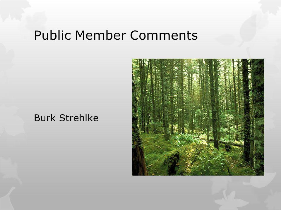 Public Member Comments Burk Strehlke