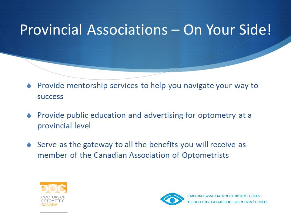 Provincial Associations – On Your Side.