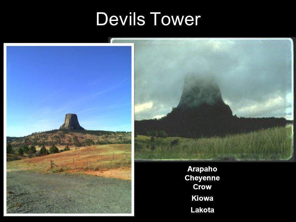 Devils Tower Arapaho Cheyenne Crow Kiowa Lakota