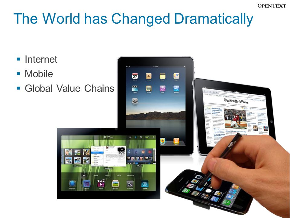The World has Changed Dramatically  Internet  Mobile  Global Value Chains 24