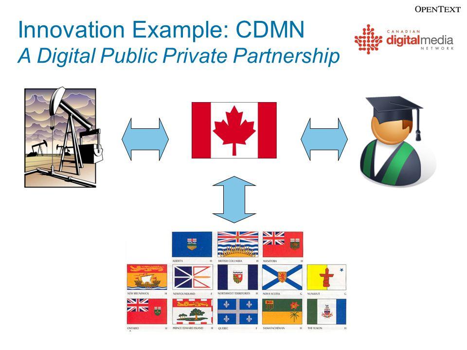 Innovation Example: CDMN A Digital Public Private Partnership