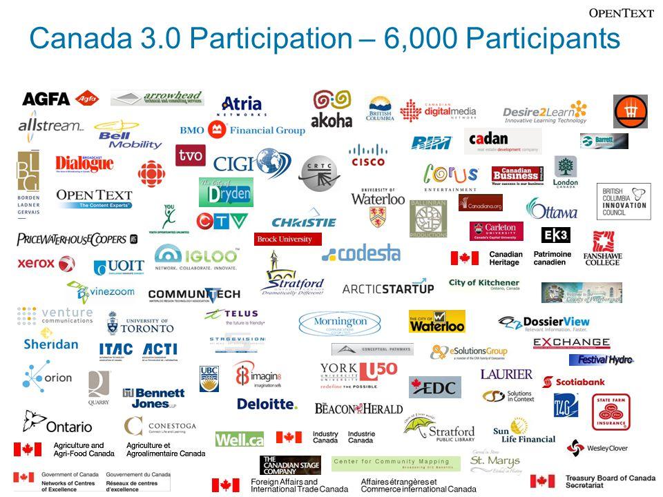 Canada 3.0 Participation – 6,000 Participants