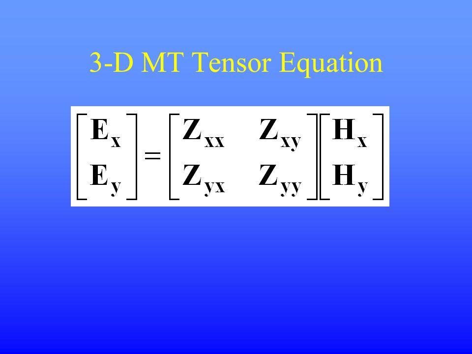 3-D MT Tensor Equation