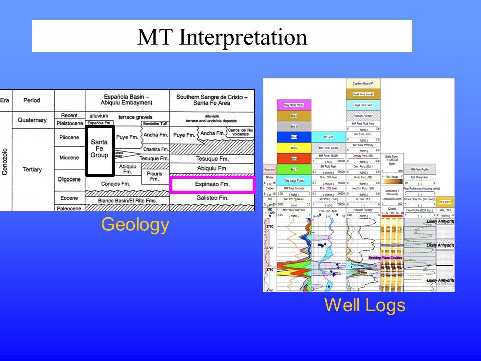 MT Interpretation Geology Well Logs