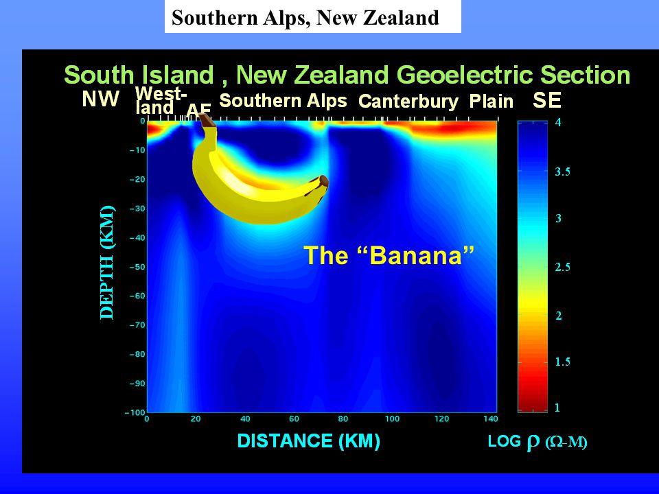 "The ""Banana"" Southern Alps, New Zealand"