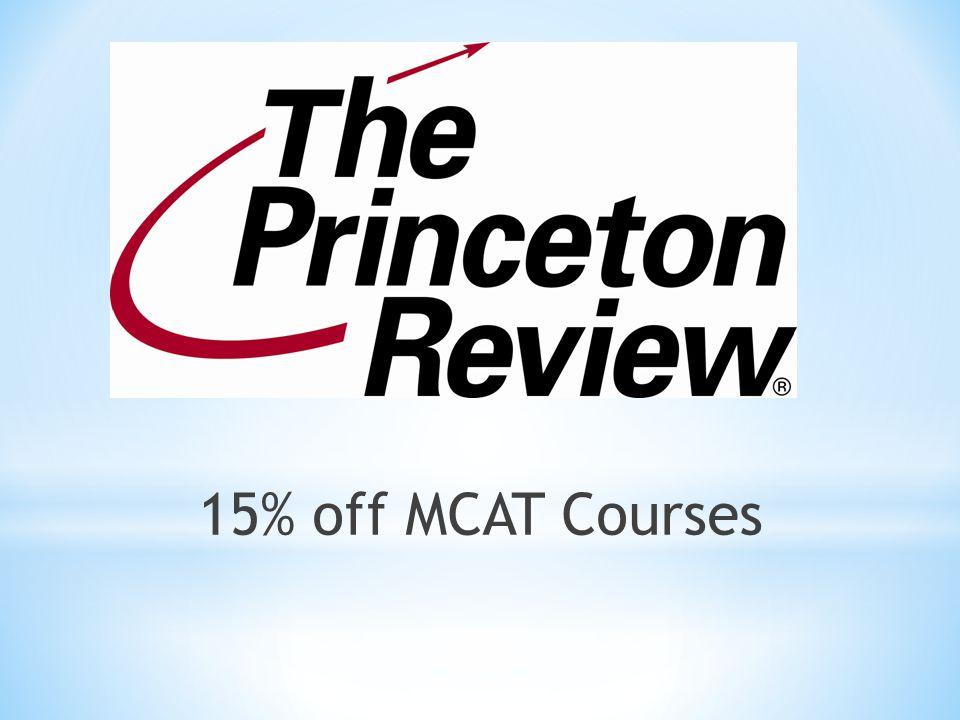 15% off MCAT Courses