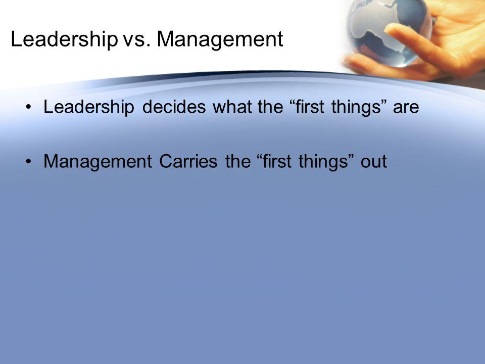 Leadership vs.