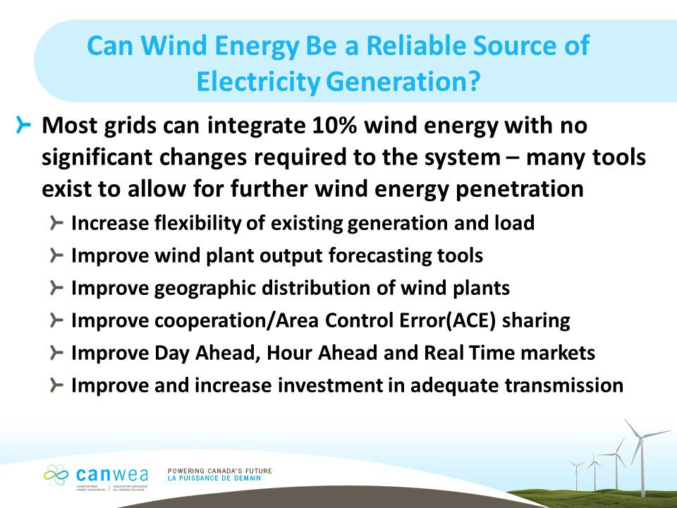 Can Wind Energy Be a Reliable Source of Electricity Generation.