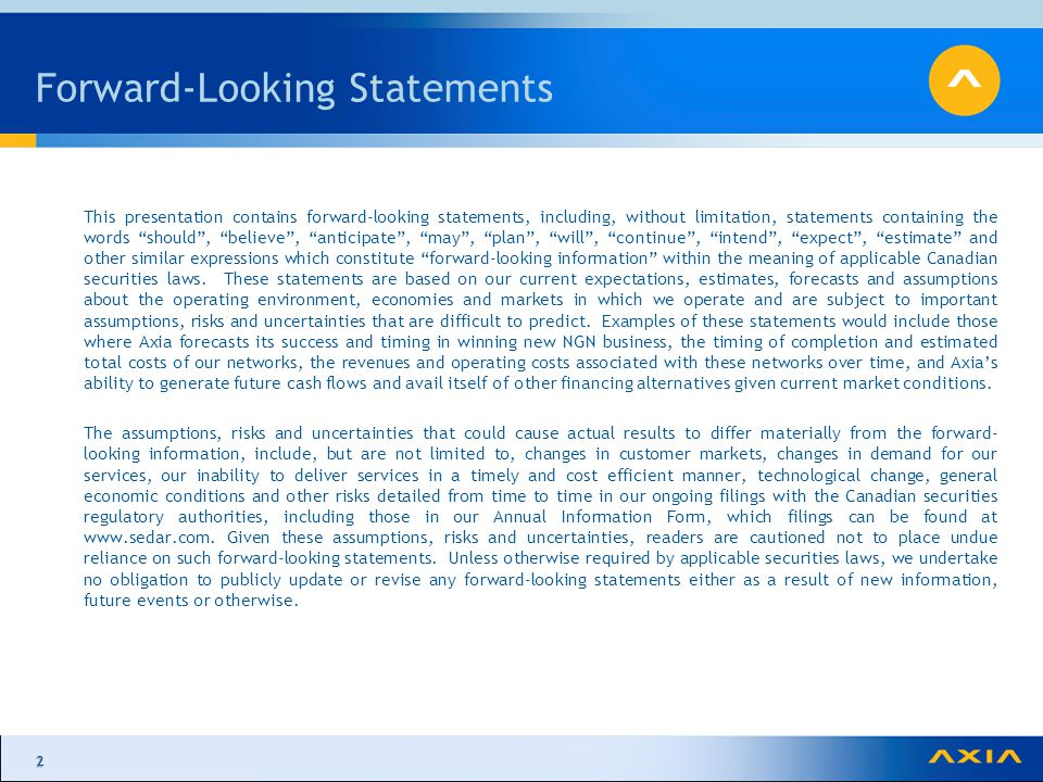 22 Forward-Looking Statements This presentation contains forward-looking statements, including, without limitation, statements containing the words should , believe , anticipate , may , plan , will , continue , intend , expect , estimate and other similar expressions which constitute forward-looking information within the meaning of applicable Canadian securities laws.