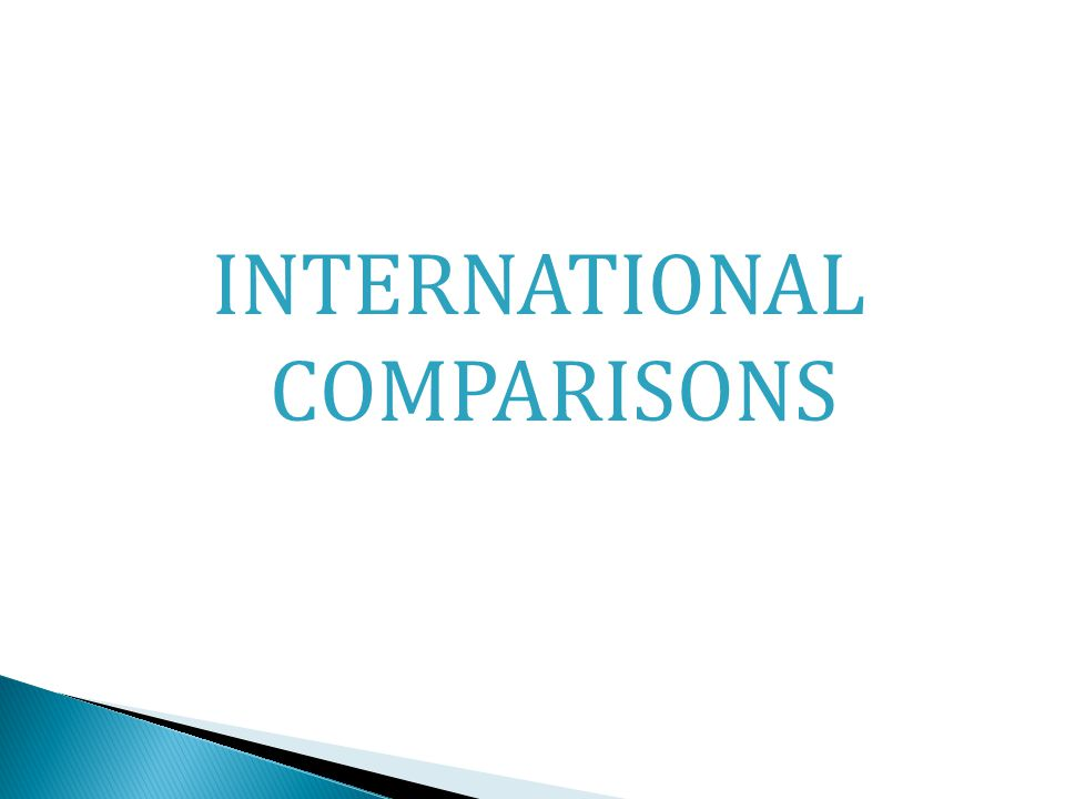 INTERNATIONAL COMPARISONS