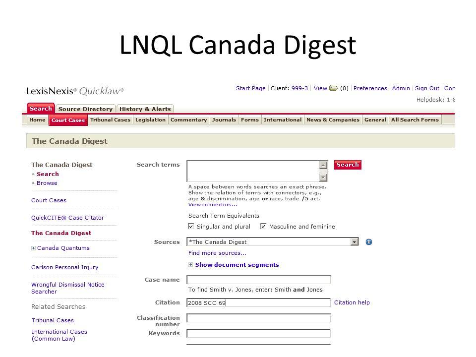 LNQL Canada Digest