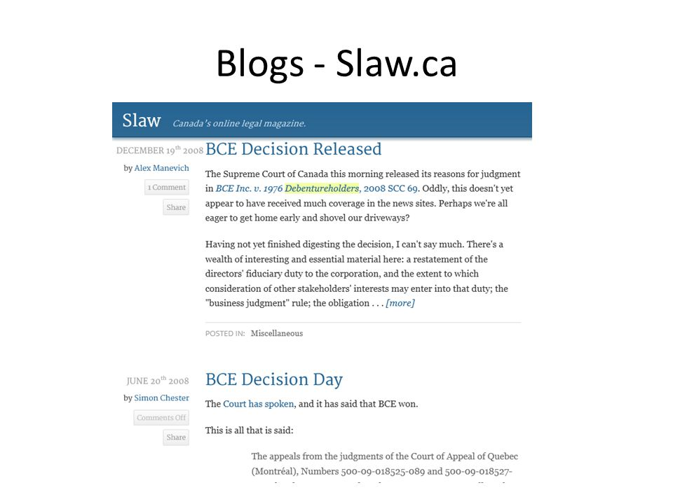 Blogs - Slaw.ca