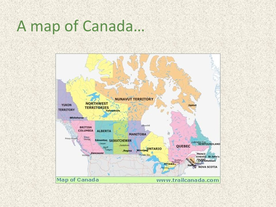 A map of Canada…