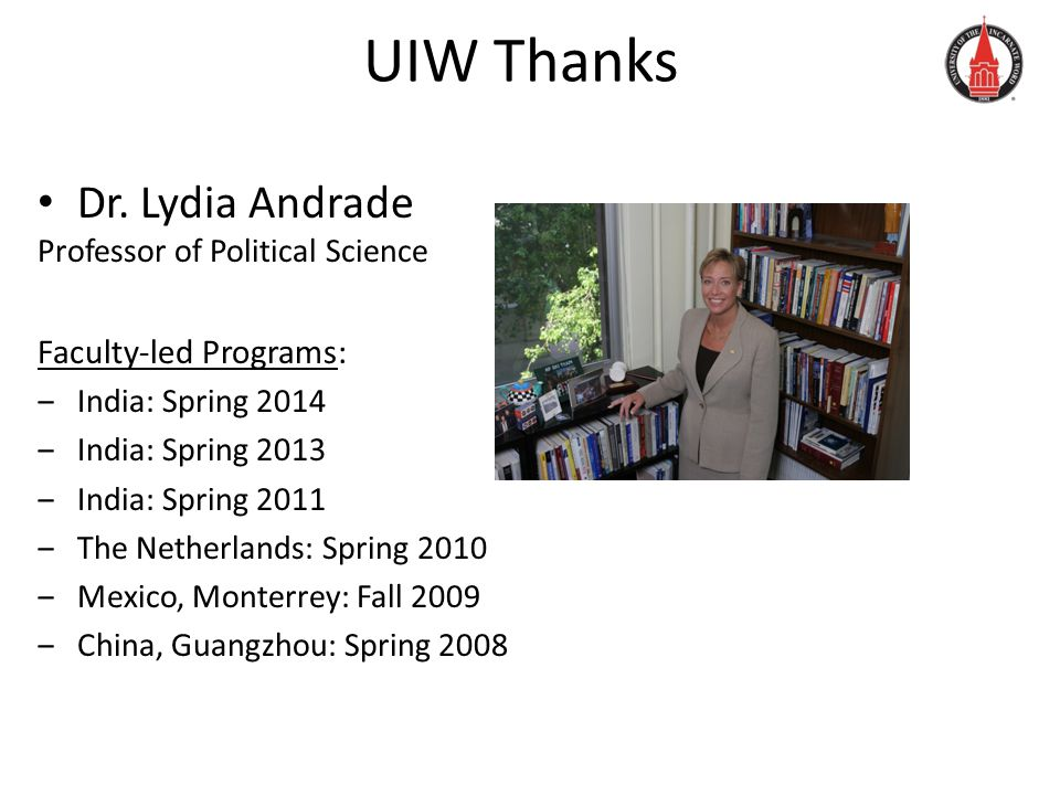 UIW Thanks Dr.