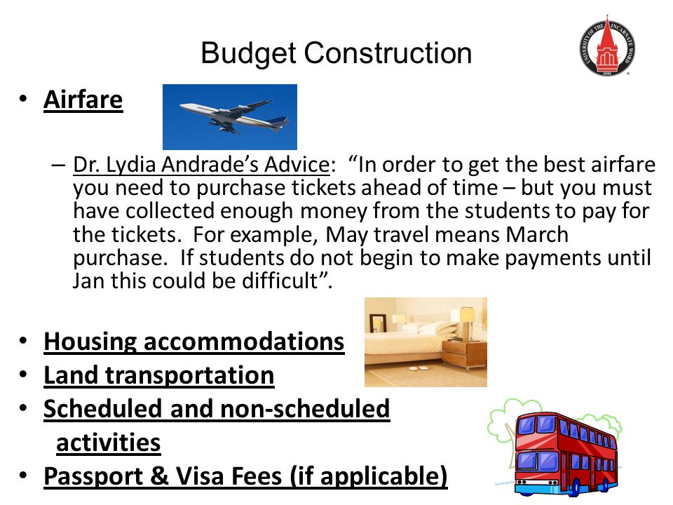 Budget Construction Airfare – Dr.