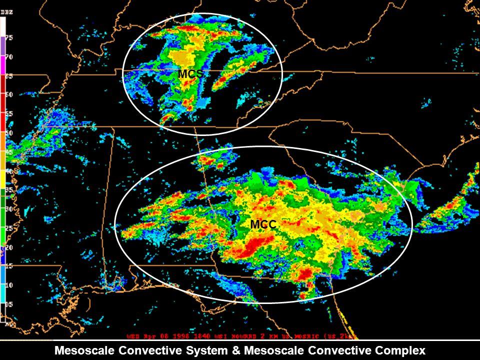 Mesoscale Convective System & Mesoscale Convective Complex MCS MCC